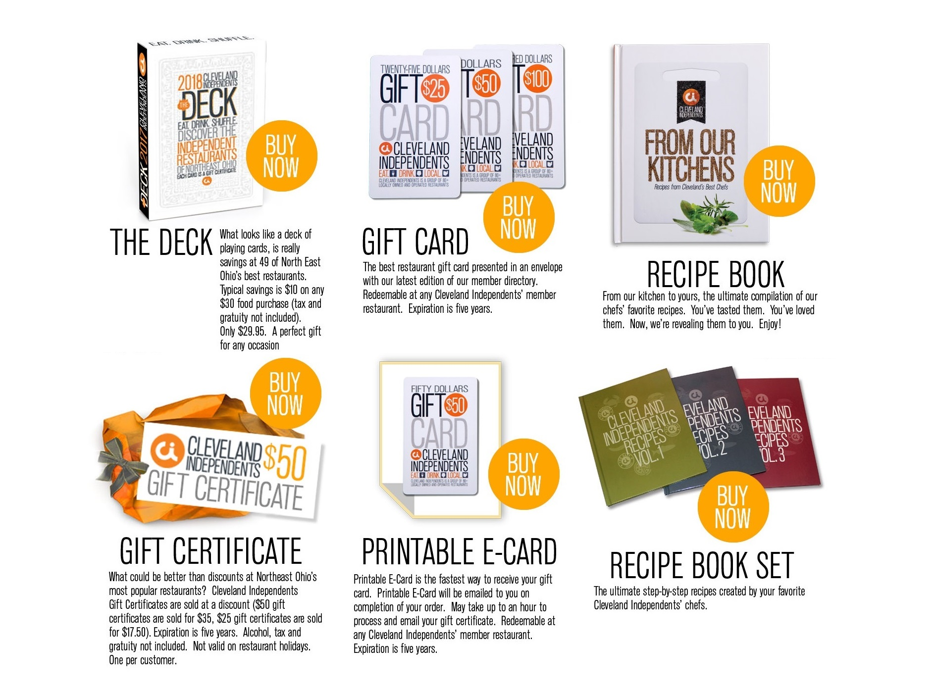 Cleveland Independents Buy Gift Cards And Certificate For The Best